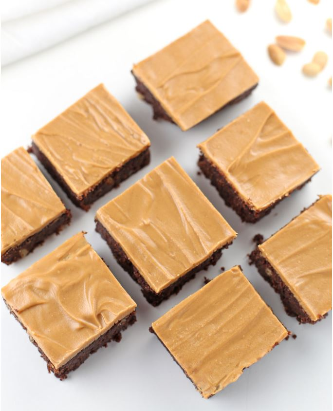 peanut butter brownies - keto friendly desserts