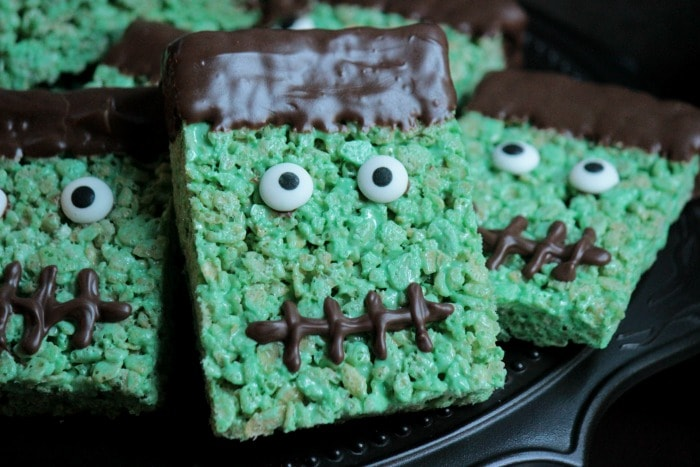 FrankensteinRiceKrispieTreats halloween food