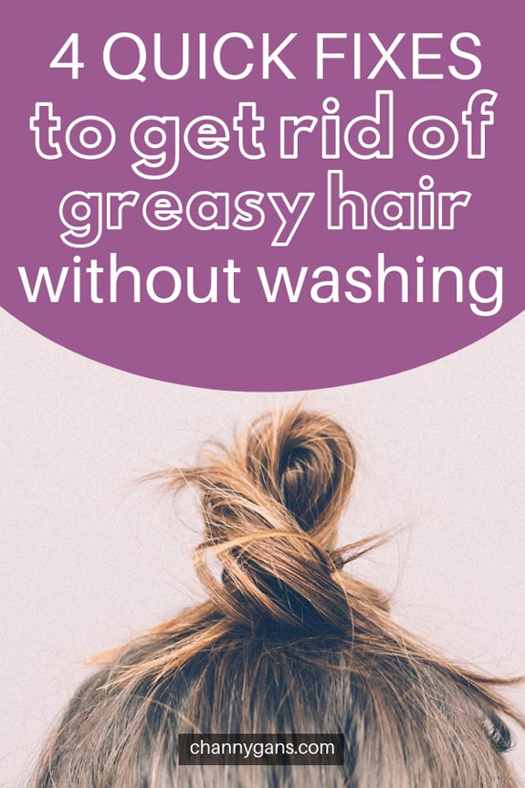 The best way to get rid of greasy hair is to give your hair a good wash. If you don't have the time, there are quick fixes to get rid of greasy hair!