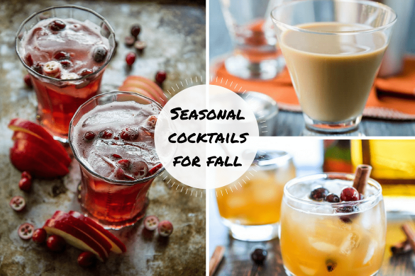 Season cocktails for fall