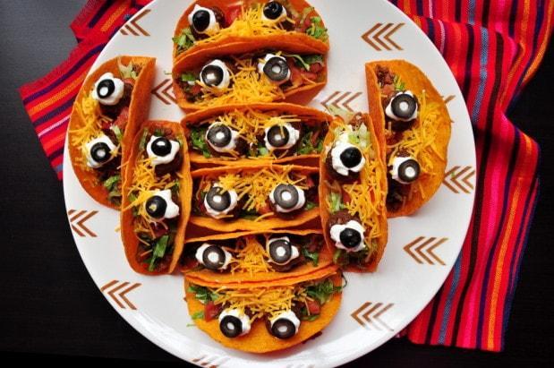 eyeball tacos Halloween food