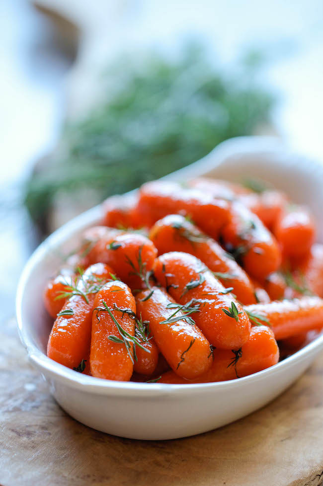 glazed-carrots thanksgiving side dish recipes