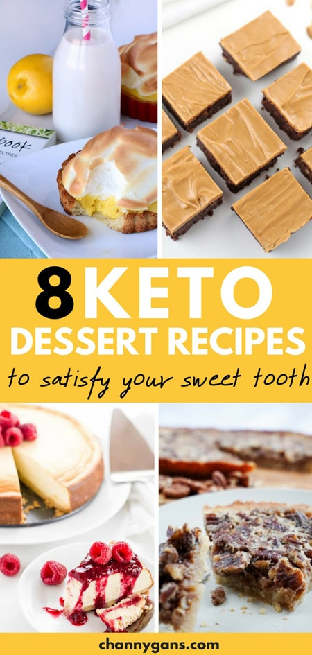 8 Keto Friendly Desserts Pin