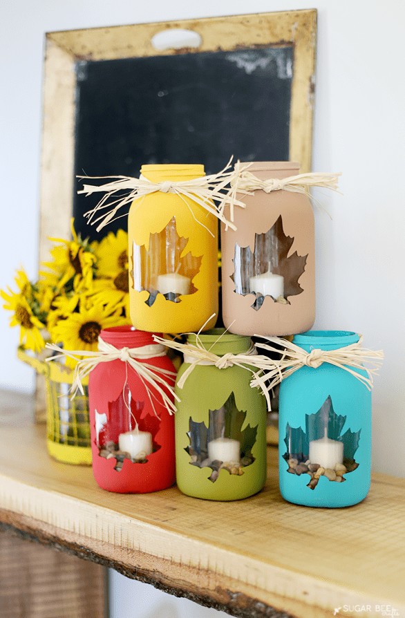 fall decor ideas - mason-jar-craft