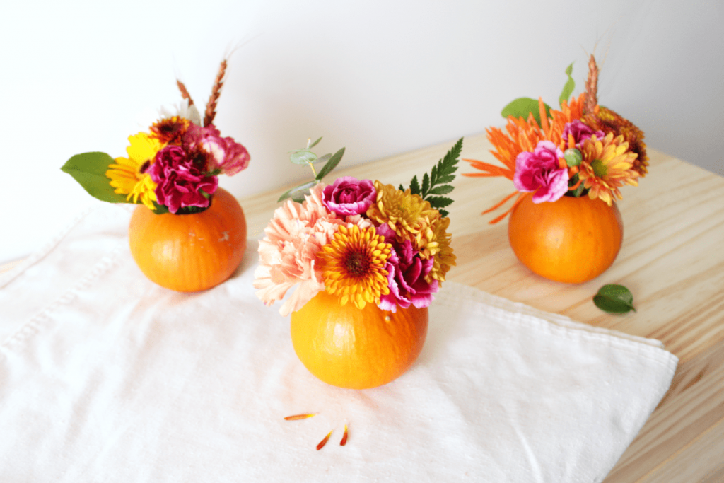 mini pumpkin florals