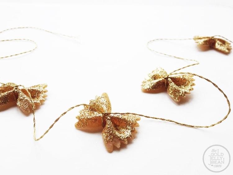 bow-tie pasta garland