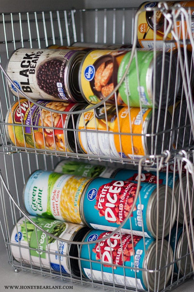pantry organization ideas - canned goods