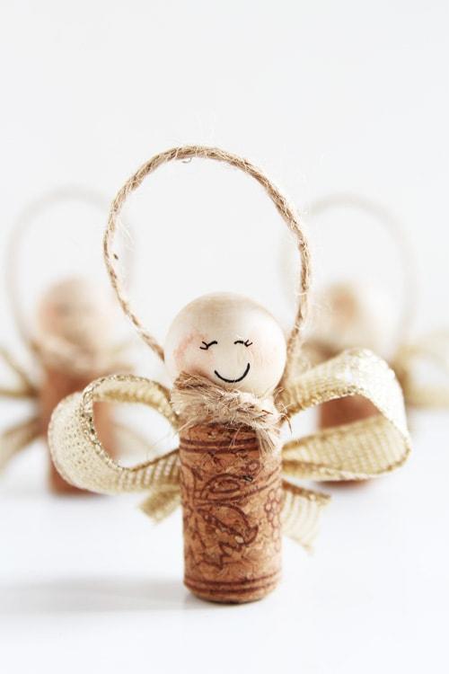 cork angel diy christmas ornaments