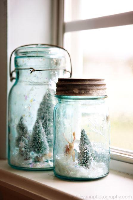 DIY Snow Globe Christmas Decorations