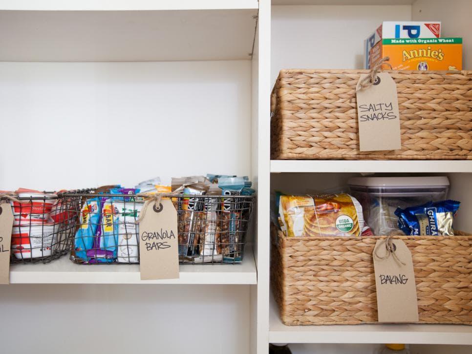 storage bins pantry organization ideas
