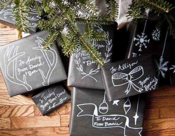 chalboard-gift-wrapping