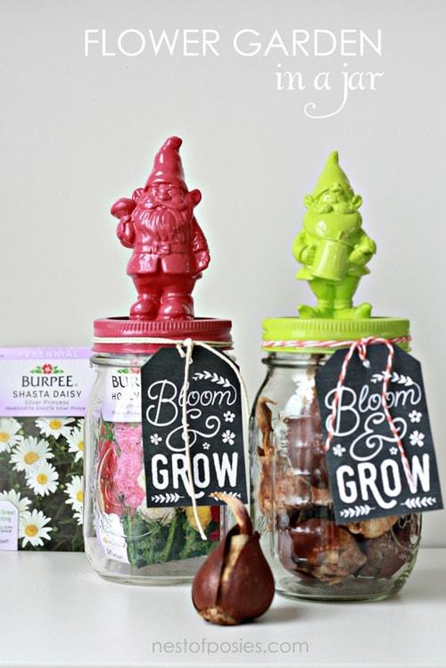 Flower-Garden-mason-jar-gift-ideas