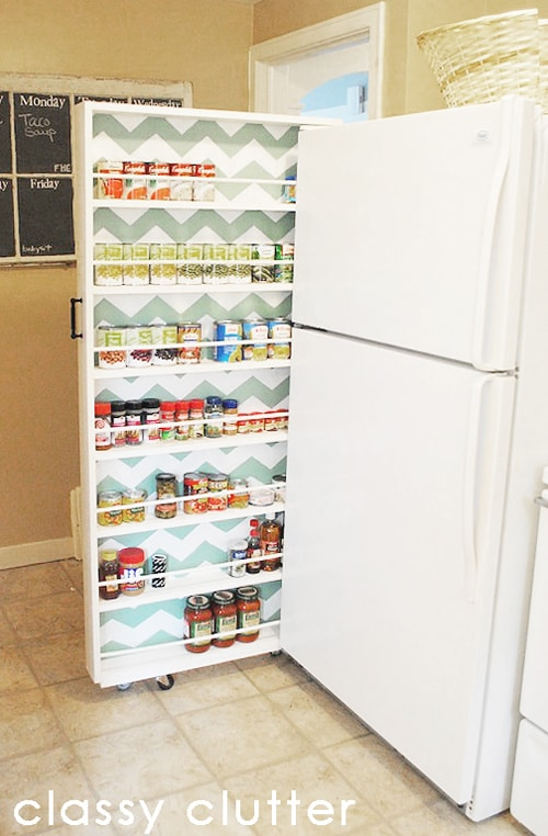 Kitchen Organization Ideas - Canned Food Organizer