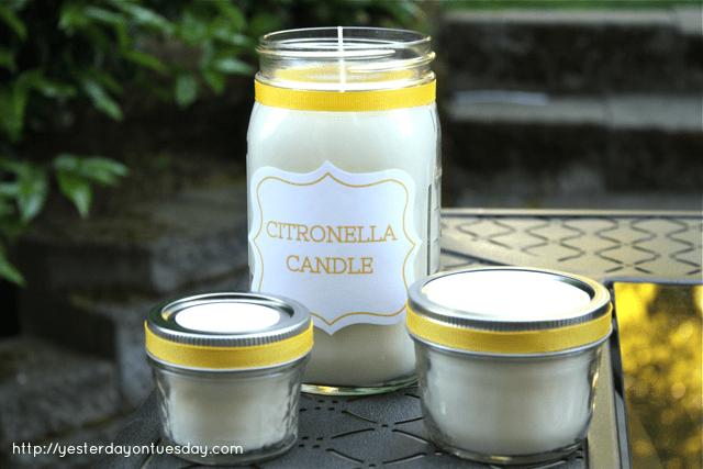 DIY Mason Jar Ideas - Citronella Candle