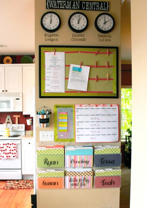 Kitchen Organization Ideas - Central Command Center