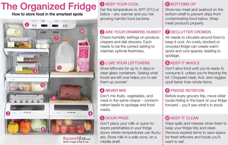Kitchen Organization Ideas - Fridge Storage & organization