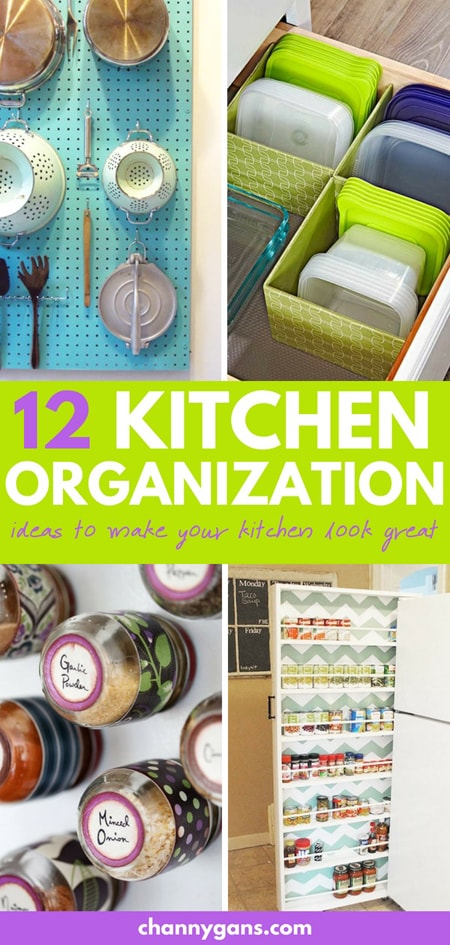Kitchen Organization Ideas Pin
