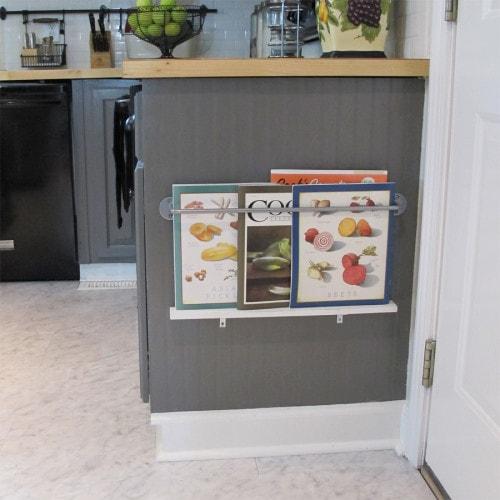Kitchen Organization Ideas - Book Rack