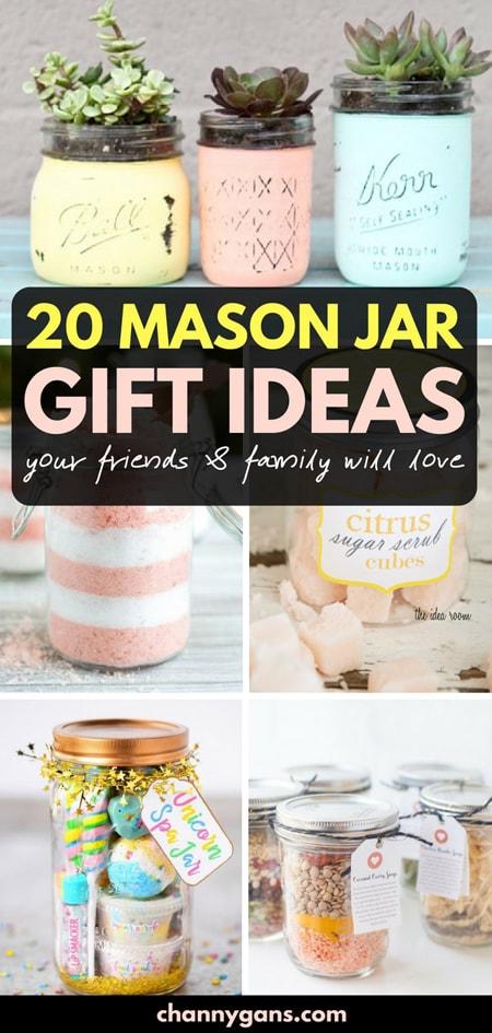 20 Mason Jar Gift Ideas Pin