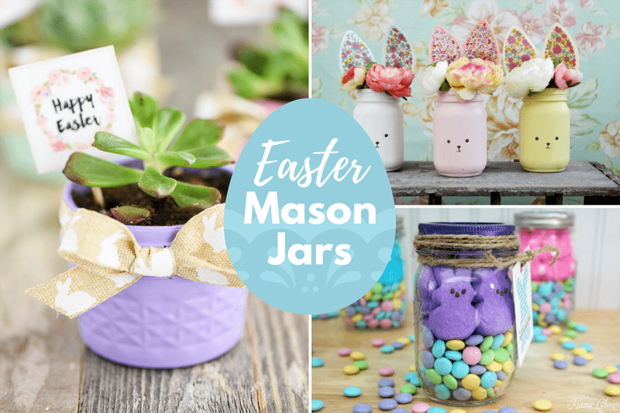 20 fun diy easter mason jar ideas for decor and gifts negle Gallery