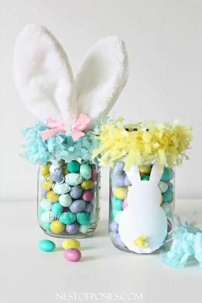 20 fun diy easter mason jar ideas for decor and gifts these easter mason jar ideas are awesome for decorating and easter gifts save it for negle Gallery