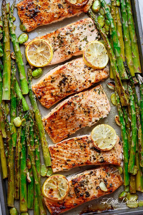 Low Carb Diet Recipes - One Pan Salmon