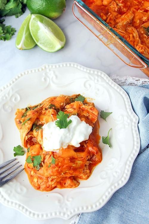 Low Carb Diet Recipes - Chicken Enchilada Casserole