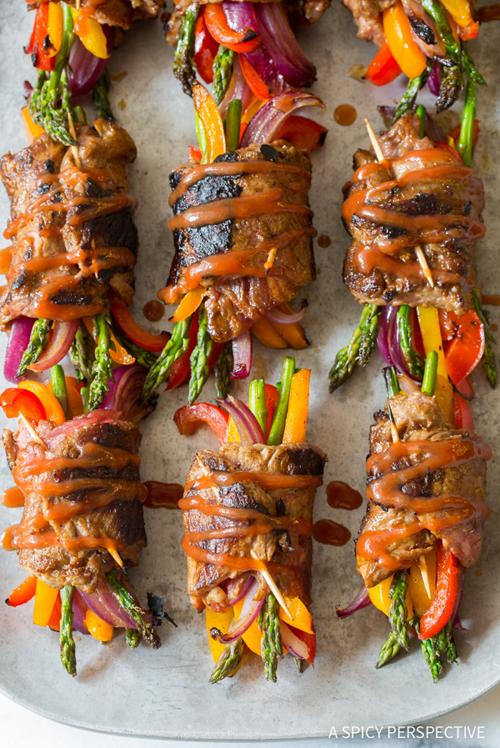 Low Carb Diet Recipes - Steak Fajita Roll-Ups