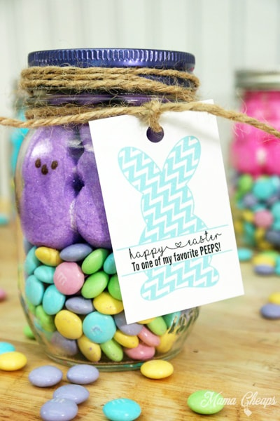 20 fun diy easter mason jar ideas for decor and gifts these easter mason jar ideas are awesome for decorating and easter gifts save it for negle Image collections