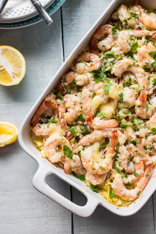Low Carb Diet Recipes - Shrimp Scampi