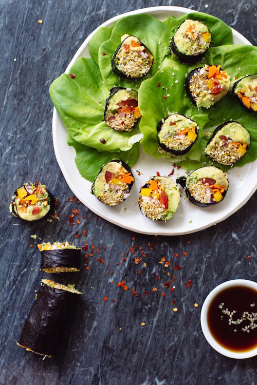 Low Carb Diet Recipes - Vegetable Sushi Rolls