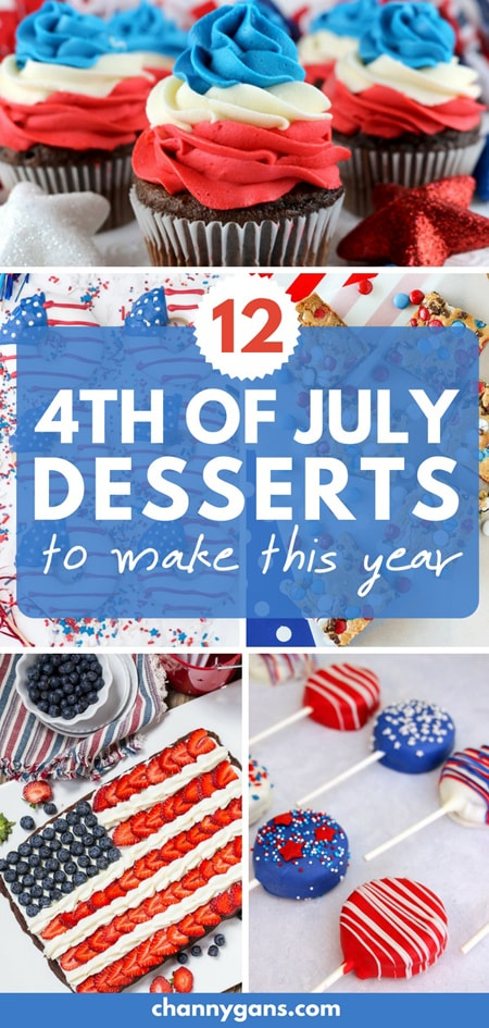 4th of July Desserts pin