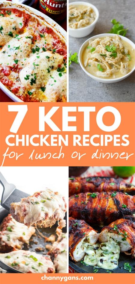 7 keto chicken recipes pin