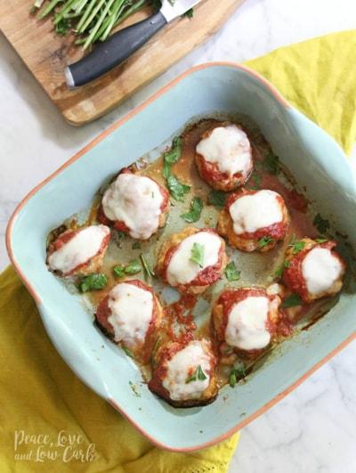 Keto Chicken Recipes - Chicken Parmesan Meatballs