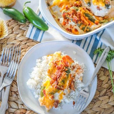 Keto Chicken Recipes - Jalapeno Popper Chicken Casserole