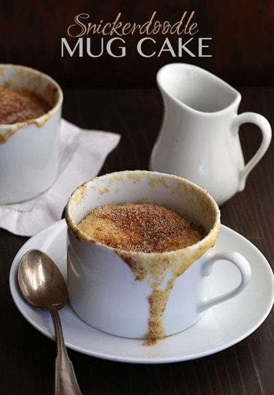 10 Keto Mug Cake Recipes - Snickerdoodle Mug Cake