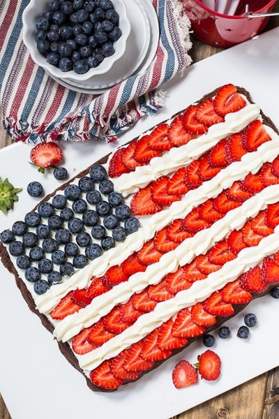 4th of July Desserts - Brownie Flag
