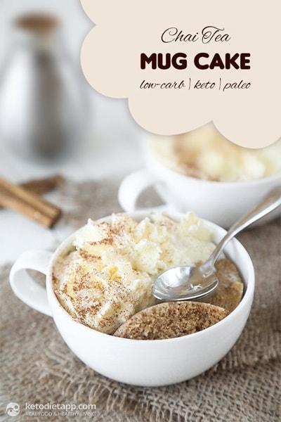 10 Keto Mug Cake Recipes - Chai Tea Mug Cake