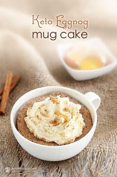 10 Keto Mug Cake Recipes - Eggnog Mug Cake