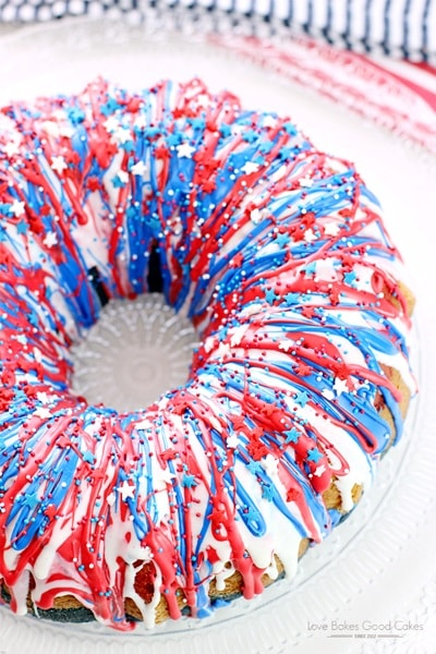 4th of July Desserts - Firecracker Cake