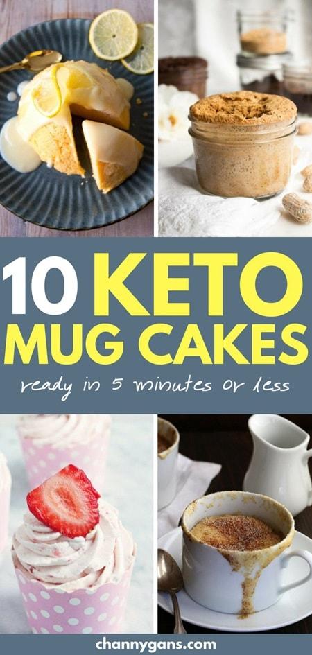 10 Keto Mug Cake Recipes Pin