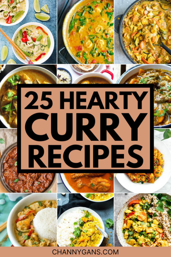 These 25 delicious curry recipes are perfect if you are looking for a hearty homemade meal!