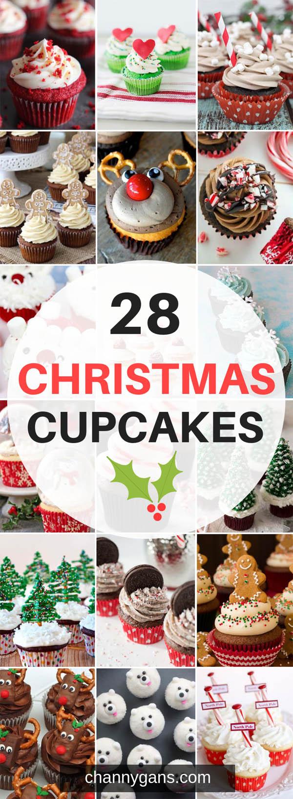 28 Christmas Cupcakes