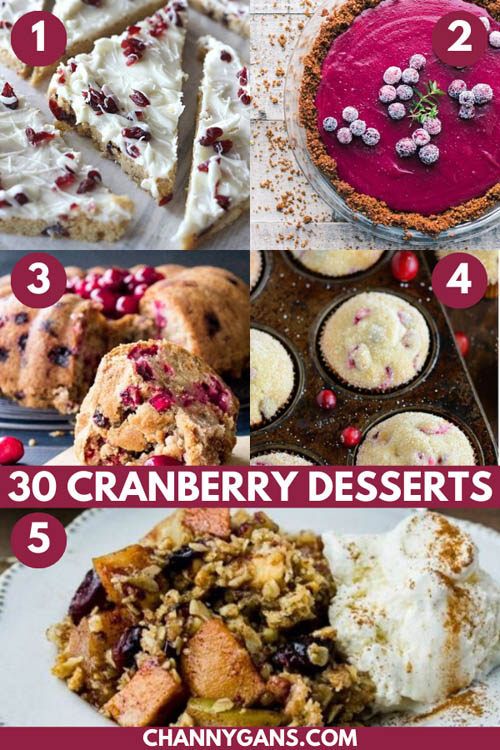 Make the most of the holiday season by trying some of these 30 cranberry dessert recipes! They are perfect for an after dinner treat.