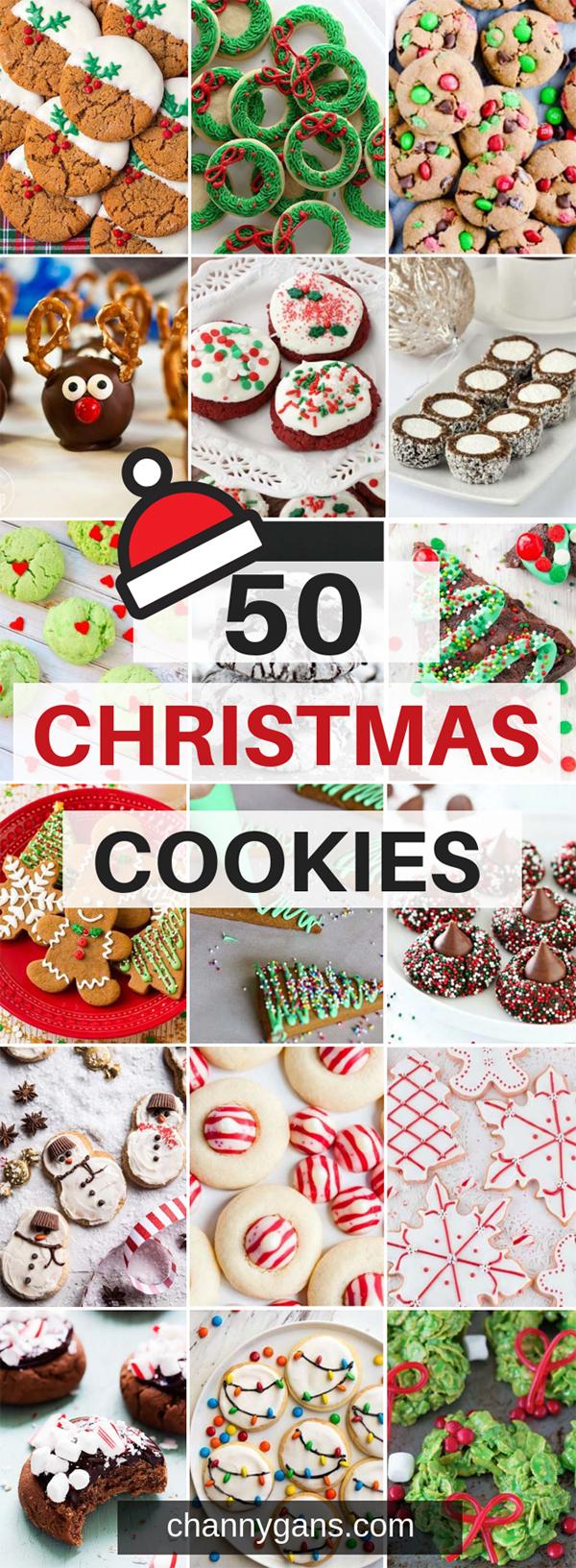 50 Christmas cookies