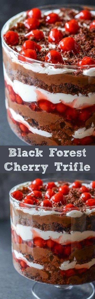 30 Christmas Trifle Recipes: Black Forest Trifle