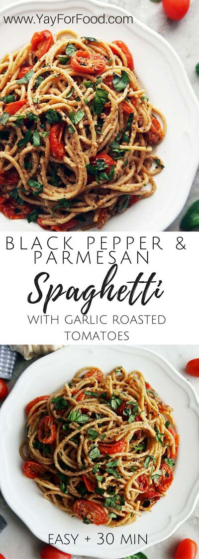 25 Pasta Recipes: Black Pepper & Parmesan Spaghetti