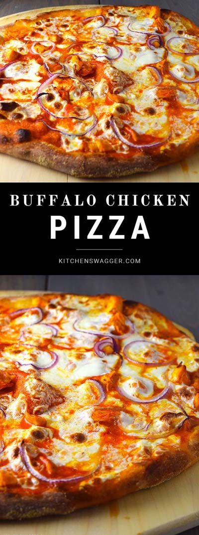 35 Homemade Pizza Recipes: Buffalo Chicken Pizza