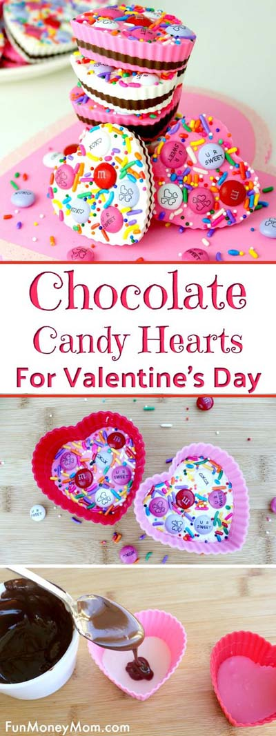 45 Valentines Desserts: Candy Hearts