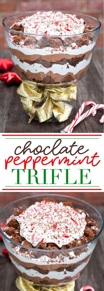 30 Christmas Trifle Recipes: Chocolate Peppermint Trifle